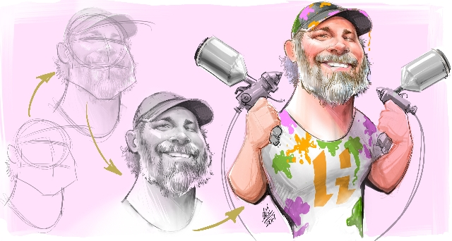 Studio caricatures and illustrations in Alberta