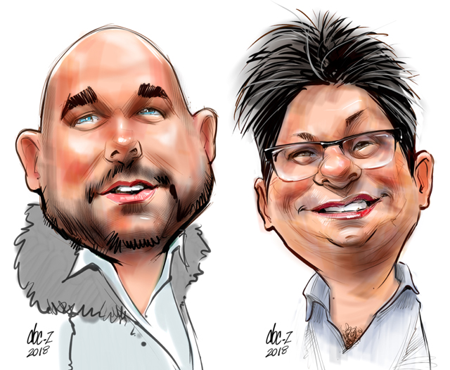 live party caricatures in Alberta